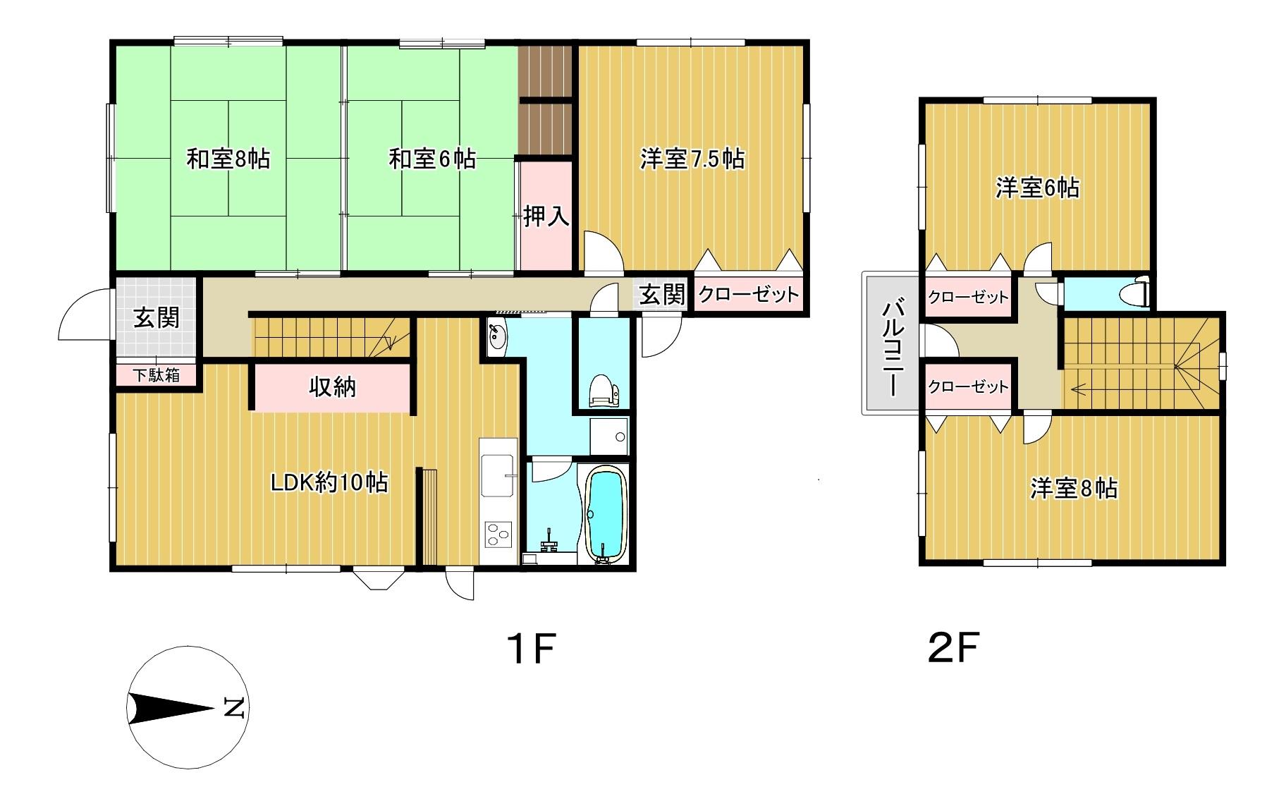 1.2階間取り平面図